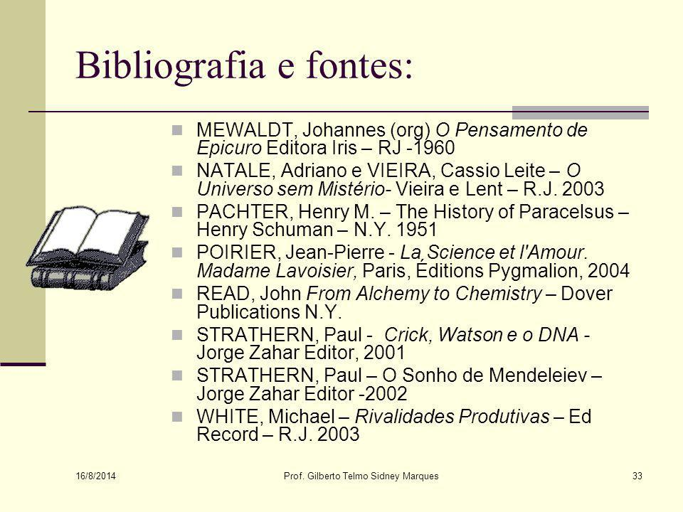 Bibliografia e fontes:
