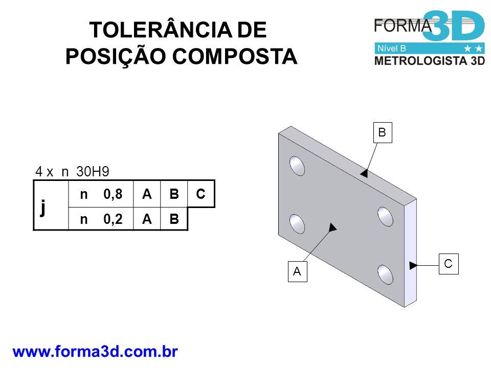 TOLERÂNCIA DE POSIÇÃO COMPOSTA