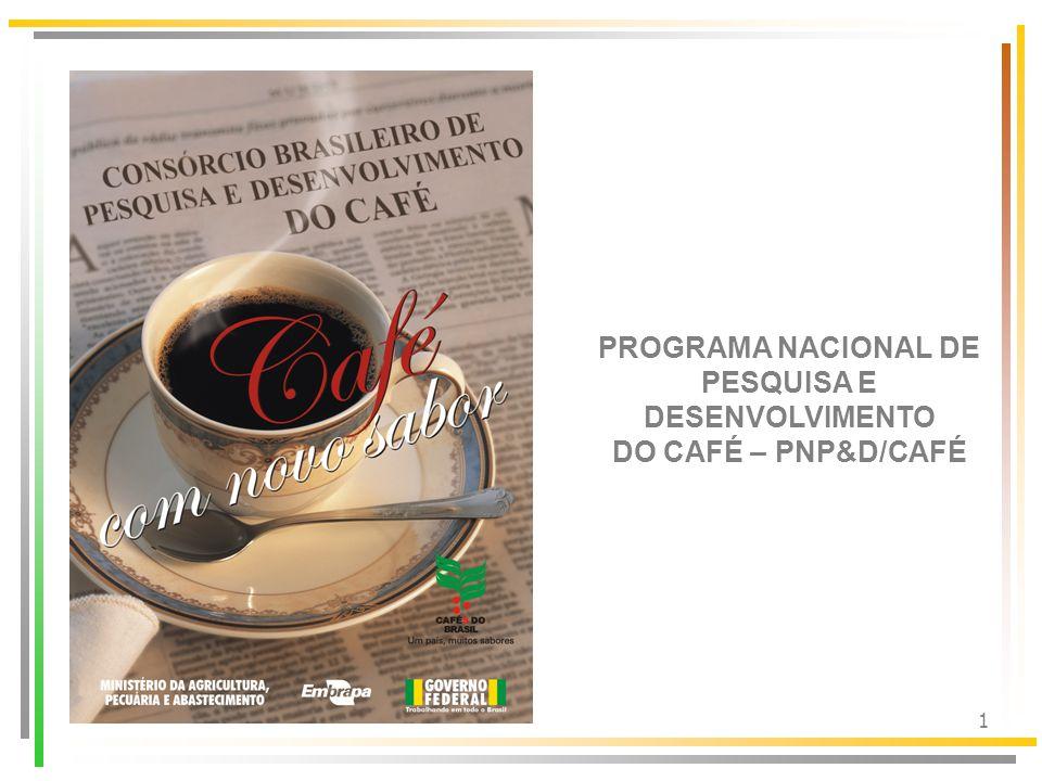 PROGRAMA NACIONAL DE PESQUISA E DESENVOLVIMENTO DO CAFÉ – PNP&D/CAFÉ