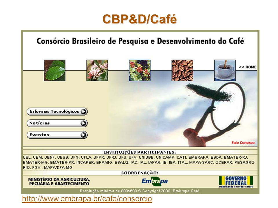 CBP&D/Café http://www.embrapa.br/cafe/consorcio
