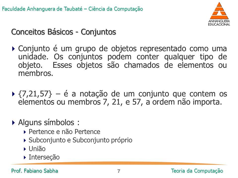 Conceitos Básicos - Conjuntos