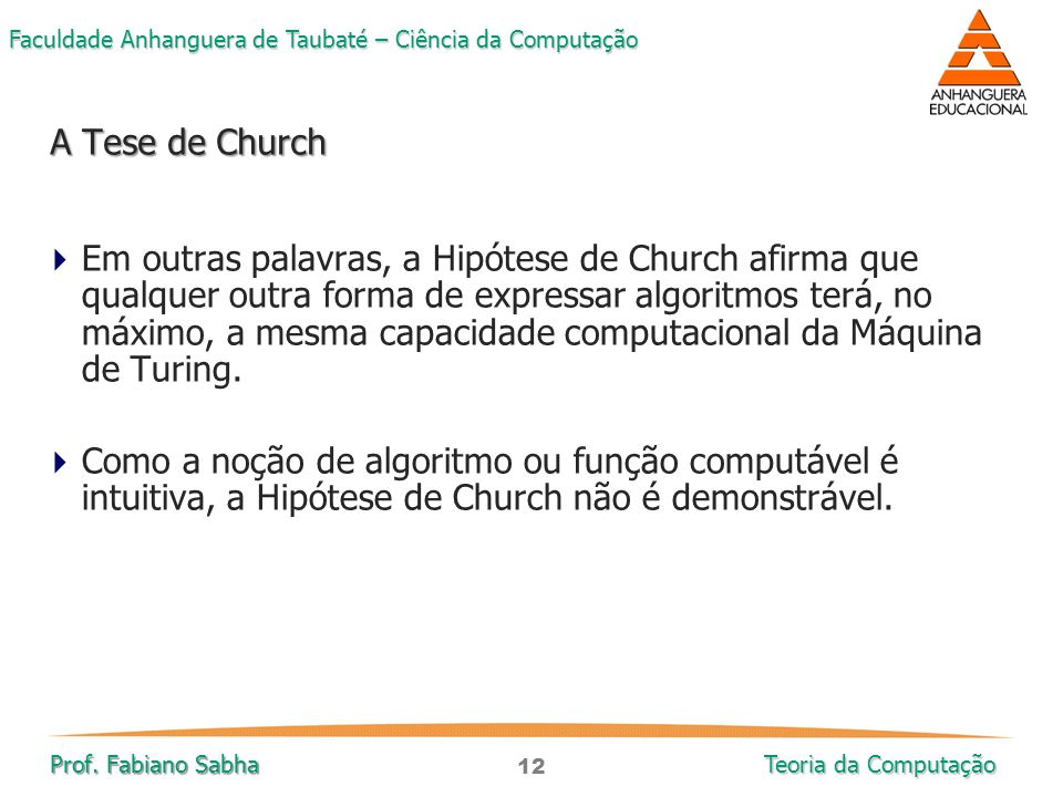 A Tese de Church