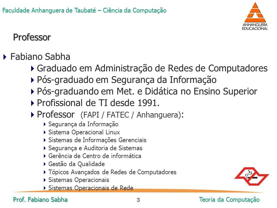 Graduado em Administração de Redes de Computadores