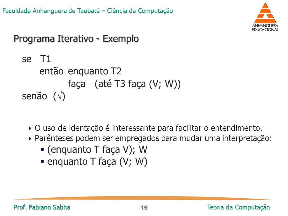Programa Iterativo - Exemplo