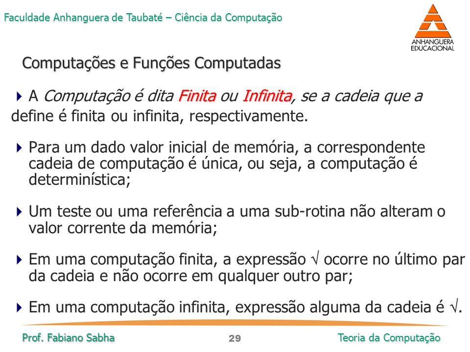 Computações e Funções Computadas