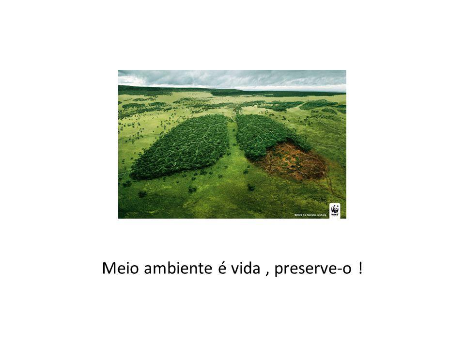 Meio ambiente é vida , preserve-o !