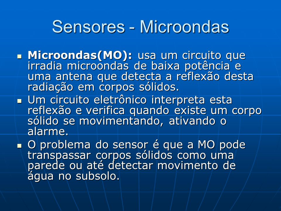 Sensores - Microondas