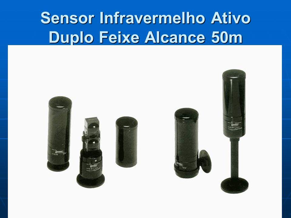 Sensor Infravermelho Ativo Duplo Feixe Alcance 50m