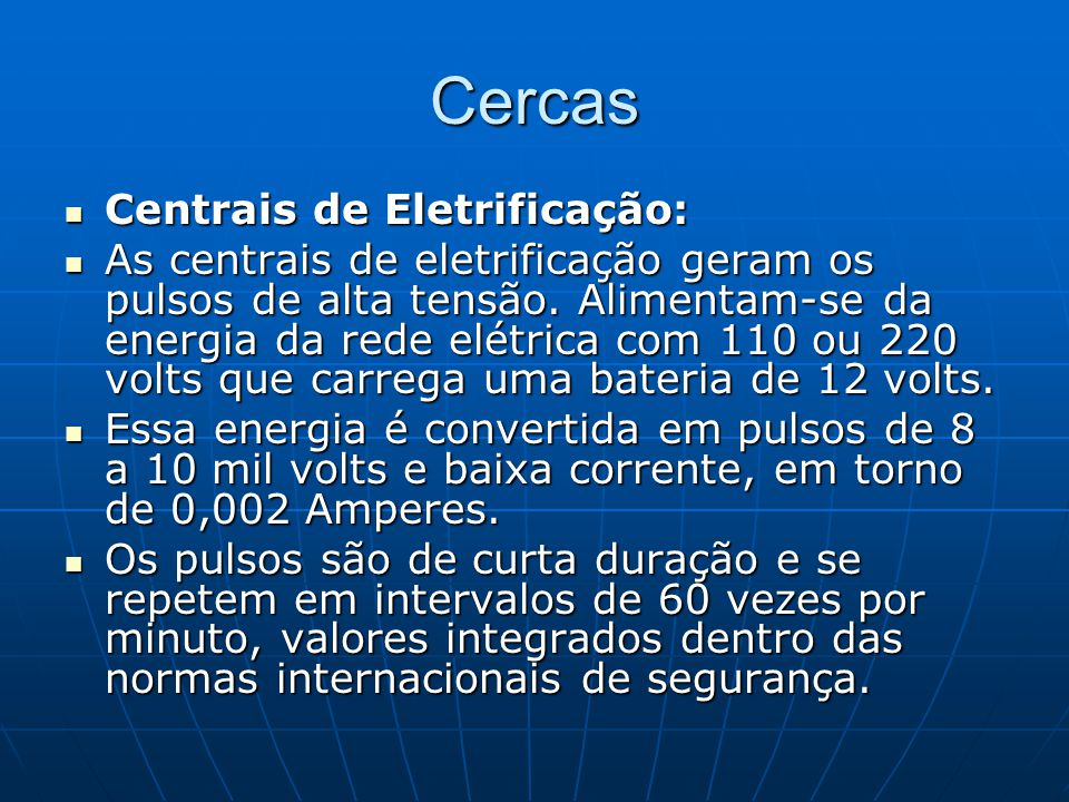 Cercas Centrais de Eletrificação: