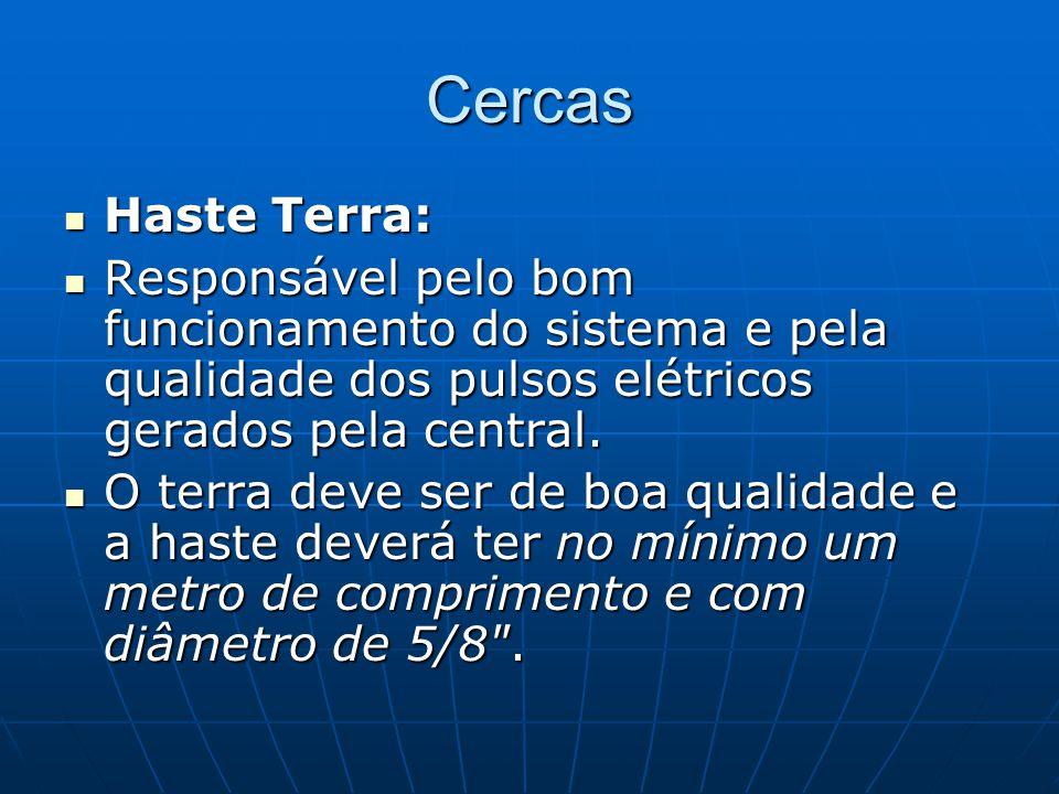Cercas Haste Terra: Responsável pelo bom funcionamento do sistema e pela qualidade dos pulsos elétricos gerados pela central.