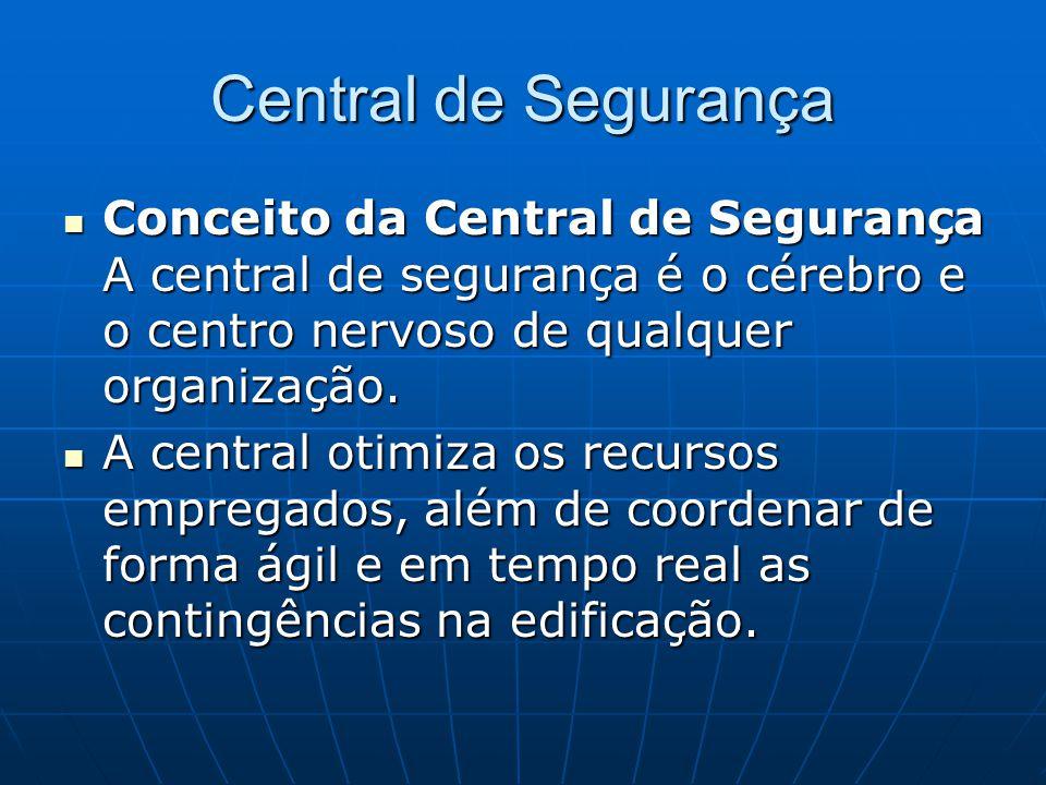 Central de Segurança Conceito da Central de Segurança A central de segurança é o cérebro e o centro nervoso de qualquer organização.