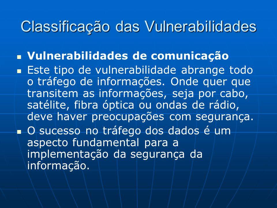 Classificação das Vulnerabilidades