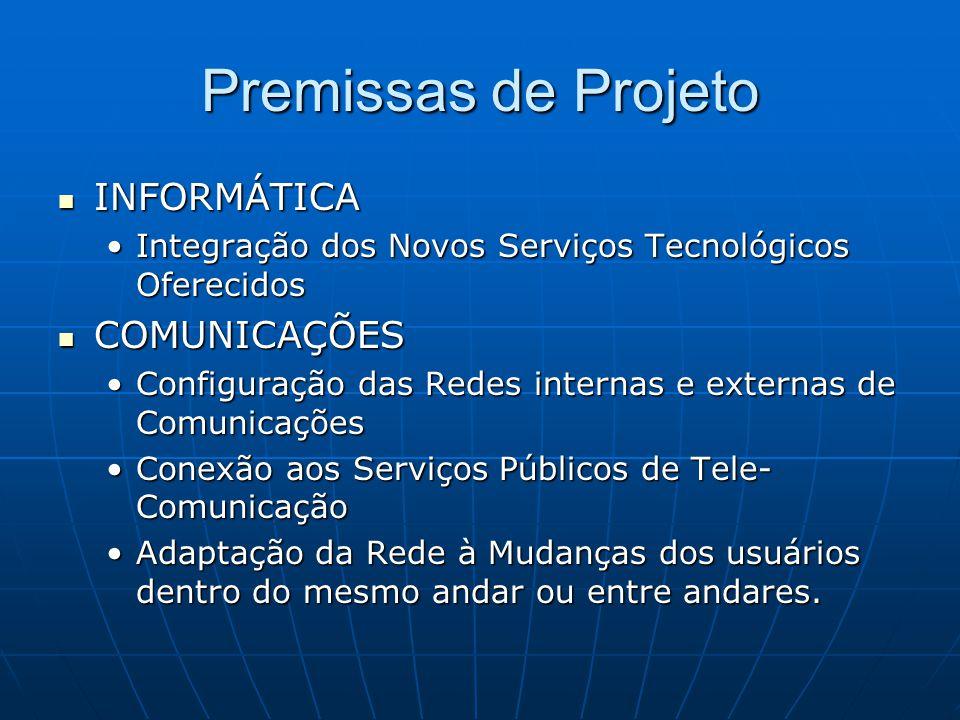 Premissas de Projeto INFORMÁTICA COMUNICAÇÕES