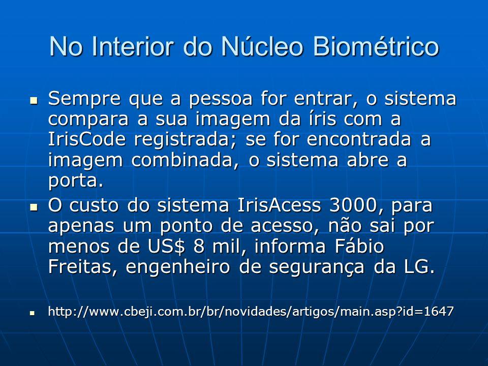 No Interior do Núcleo Biométrico