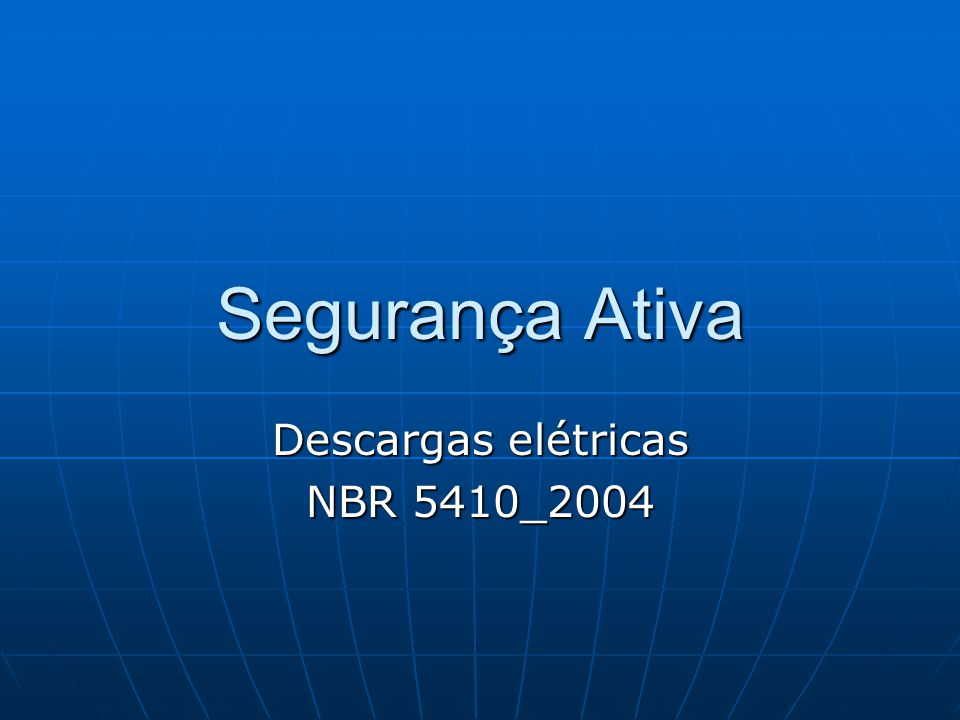 Descargas elétricas NBR 5410_2004