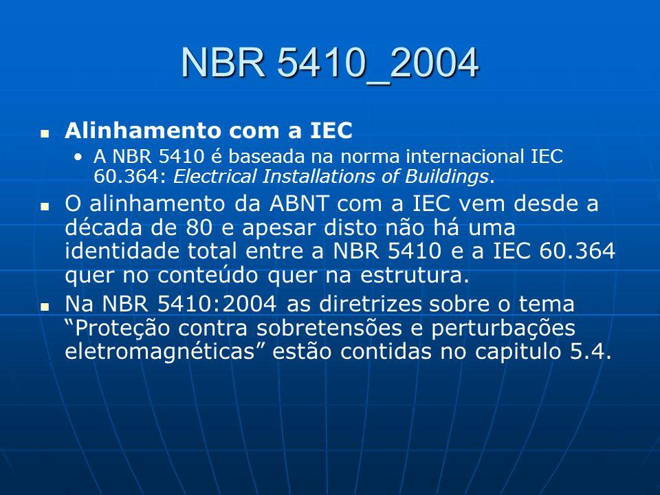 NBR 5410_2004 Alinhamento com a IEC