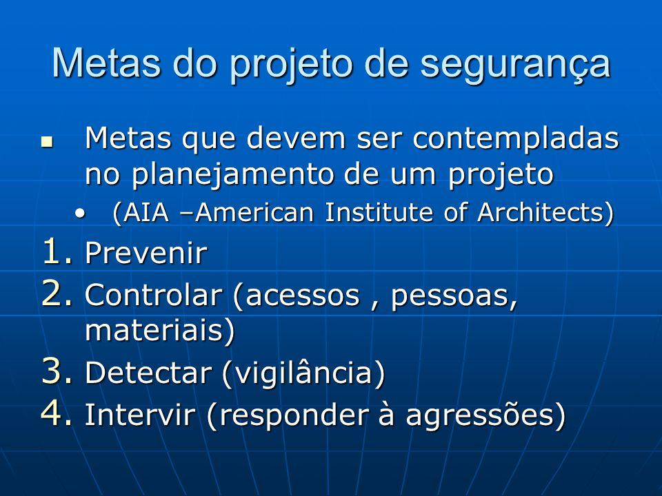 Metas do projeto de segurança