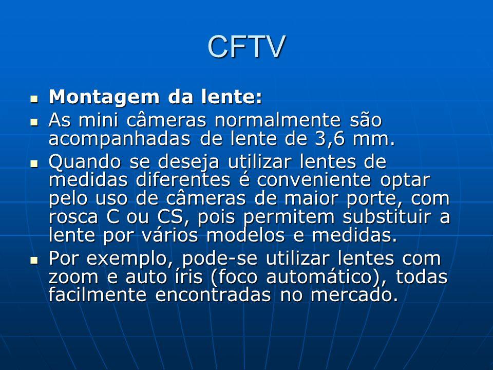 CFTV Montagem da lente:
