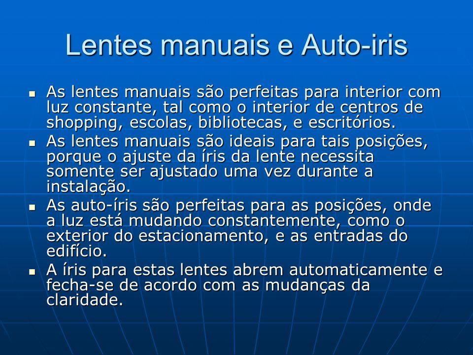 Lentes manuais e Auto-iris