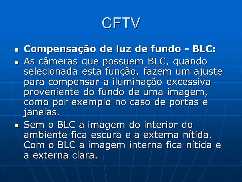 CFTV Compensação de luz de fundo - BLC: