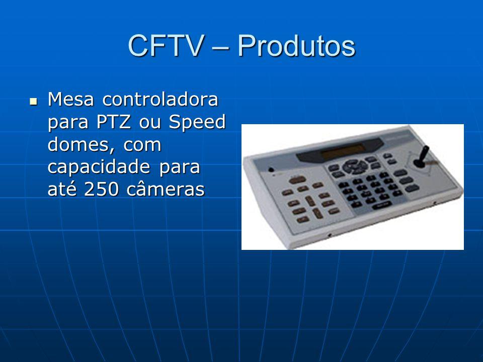 CFTV – Produtos Mesa controladora para PTZ ou Speed domes, com capacidade para até 250 câmeras