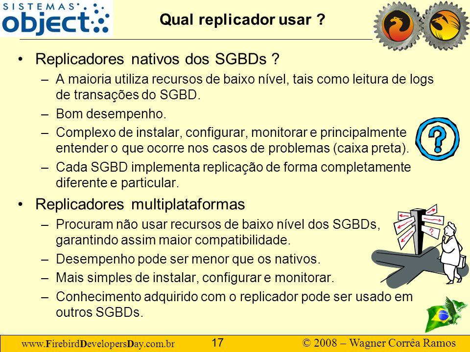 Replicadores nativos dos SGBDs