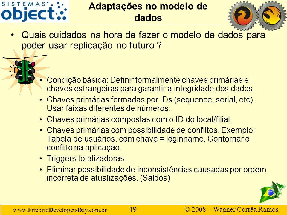 Adaptações no modelo de dados