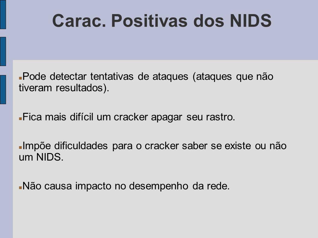 Carac. Positivas dos NIDS
