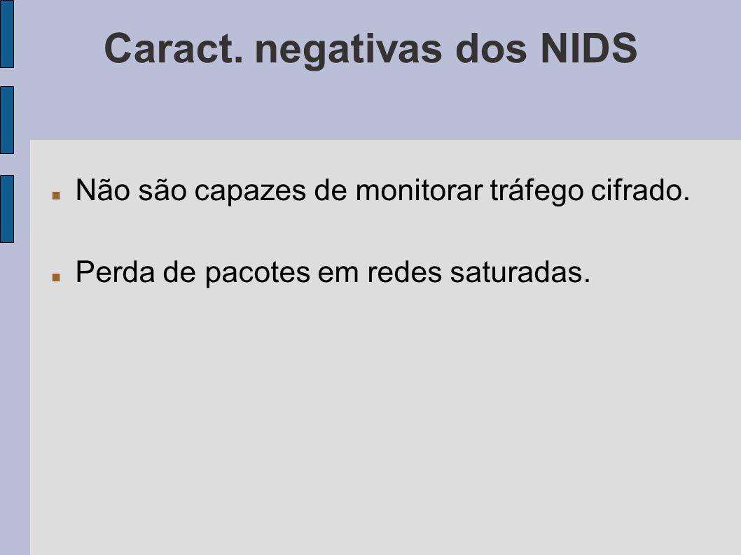 Caract. negativas dos NIDS