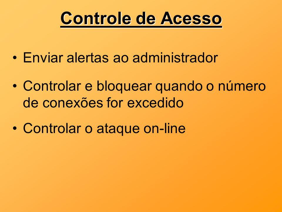 Controle de Acesso Enviar alertas ao administrador