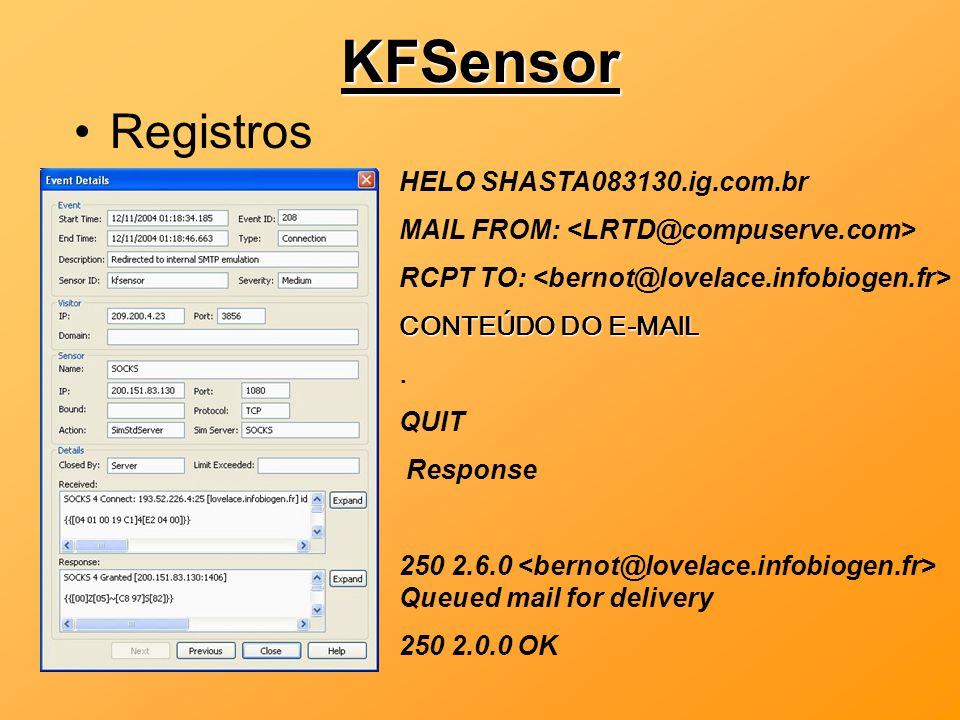 KFSensor Registros HELO SHASTA083130.ig.com.br