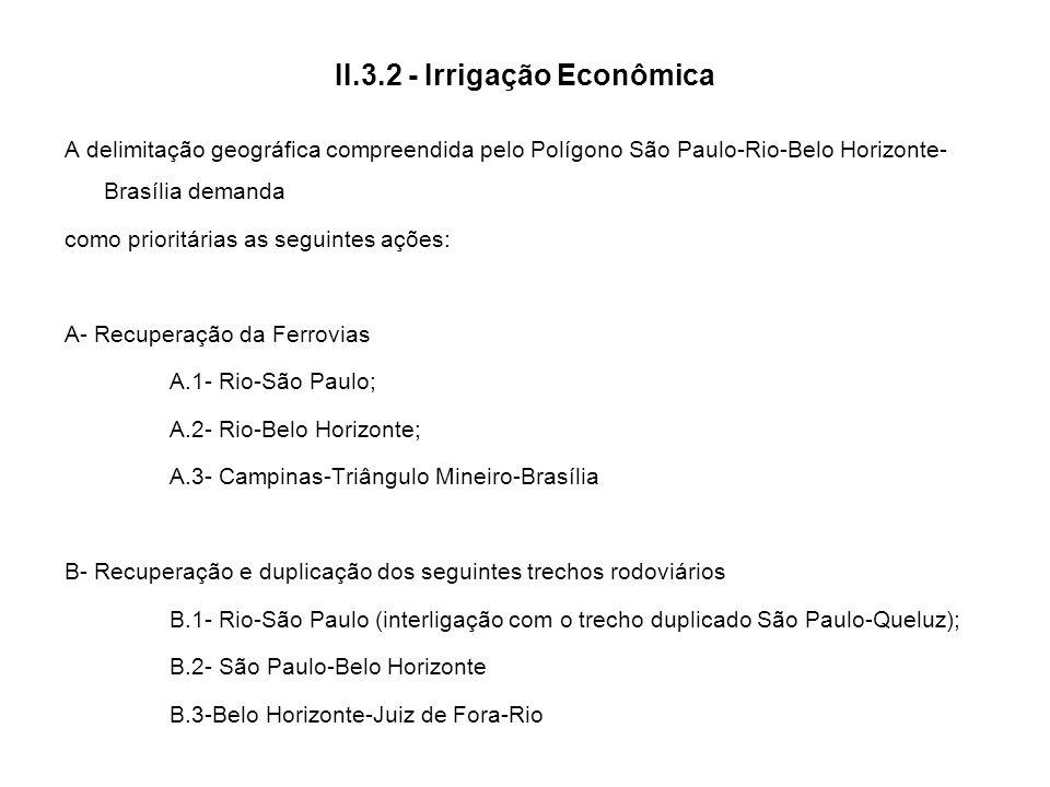 II.3.2 - Irrigação Econômica