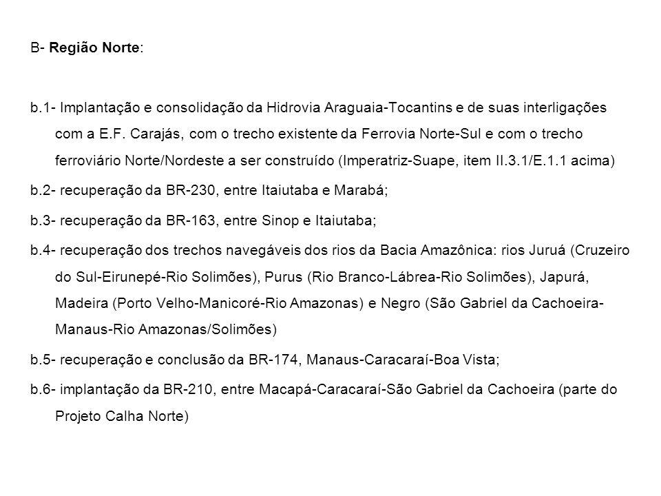 B- Região Norte: