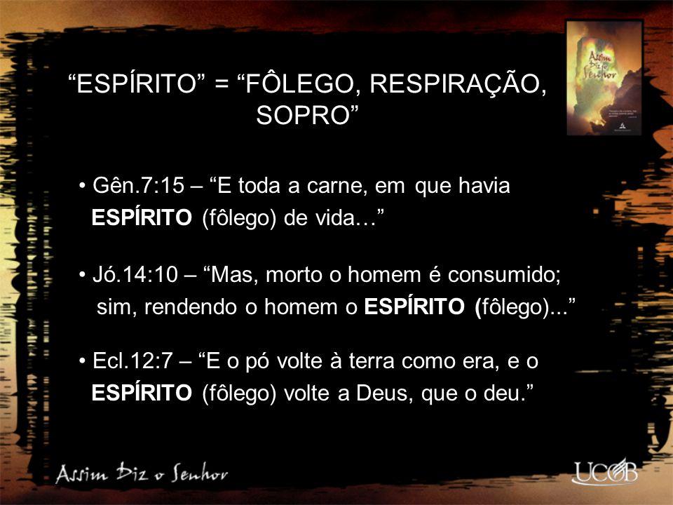 ESPÍRITO = FÔLEGO, RESPIRAÇÃO, SOPRO