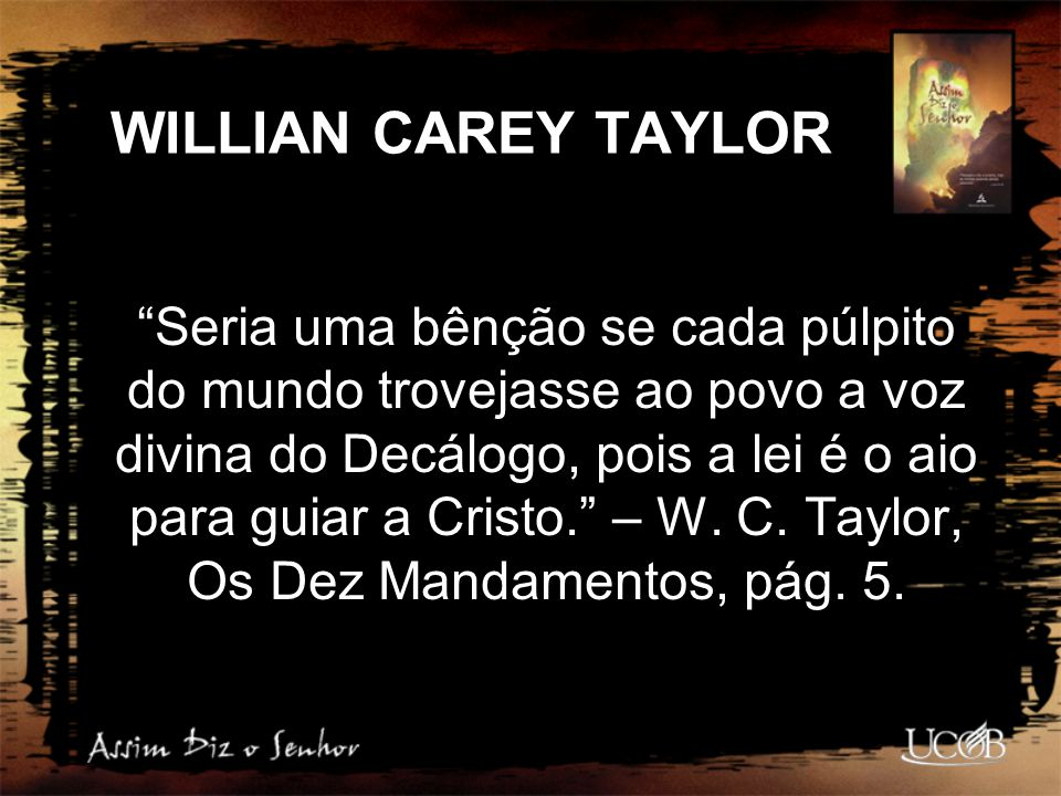 WILLIAN CAREY TAYLOR