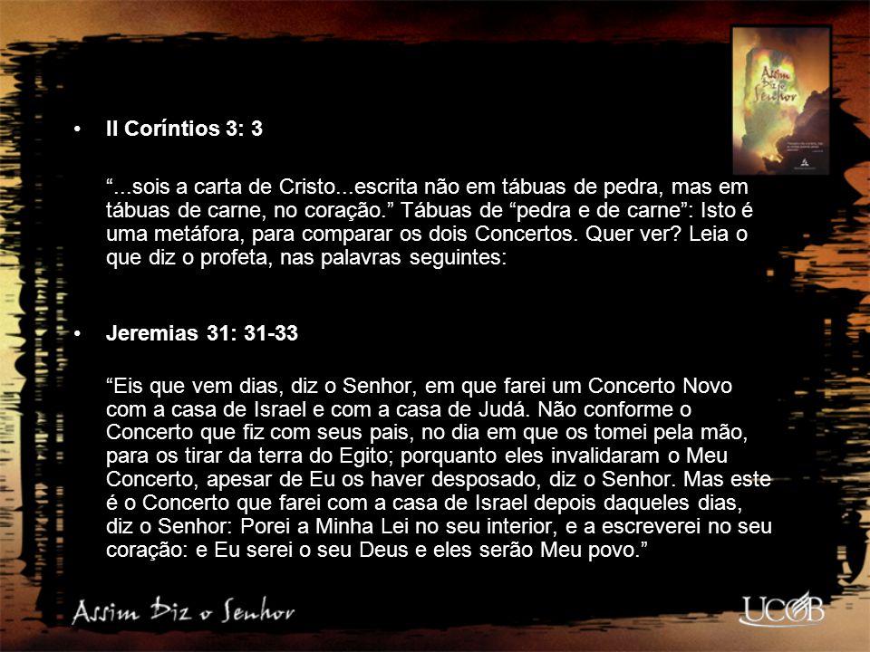 II Coríntios 3: 3