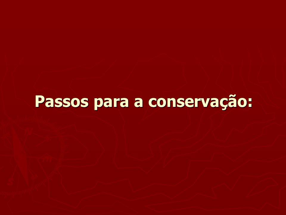 Passos para a conservação: