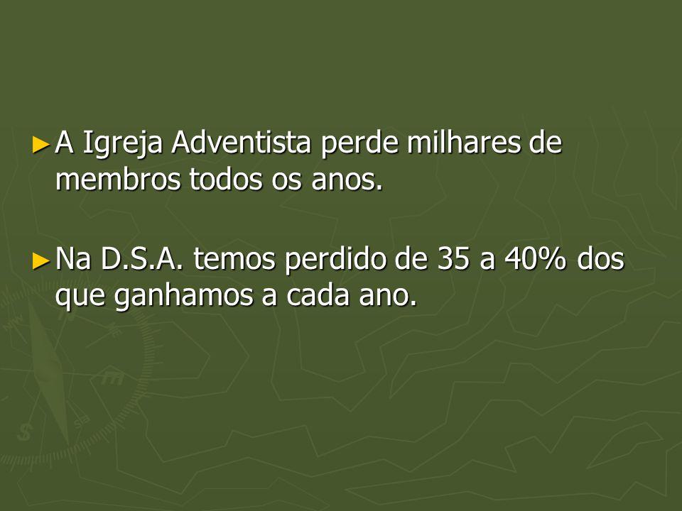 A Igreja Adventista perde milhares de membros todos os anos.