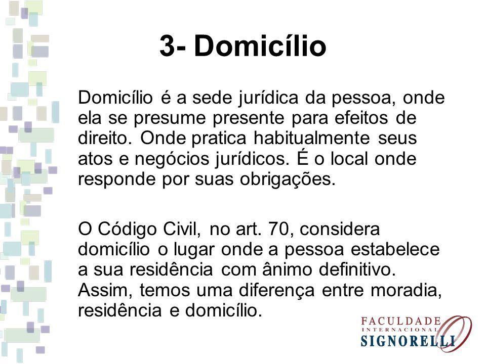 3- Domicílio