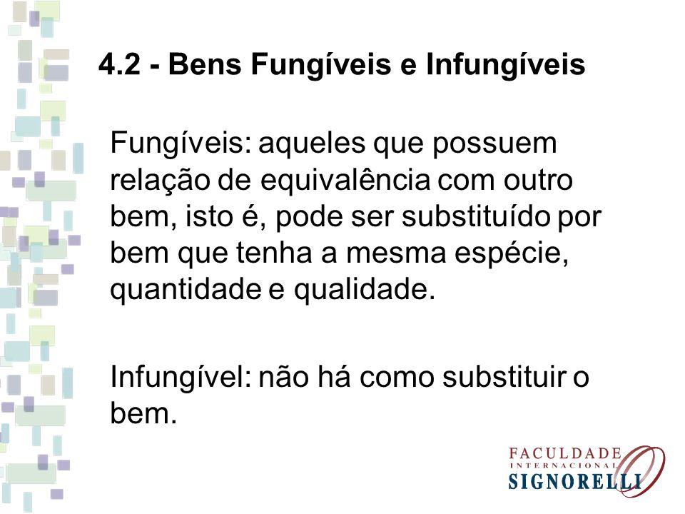 4.2 - Bens Fungíveis e Infungíveis