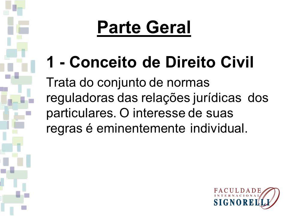 Parte Geral 1 - Conceito de Direito Civil