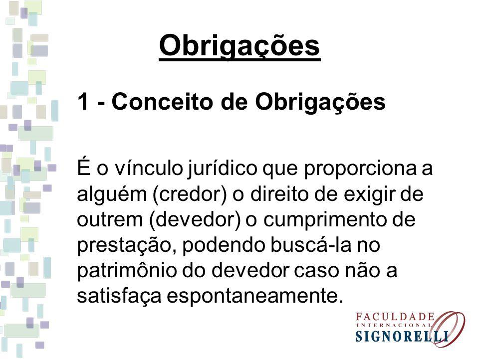Obrigações 1 - Conceito de Obrigações