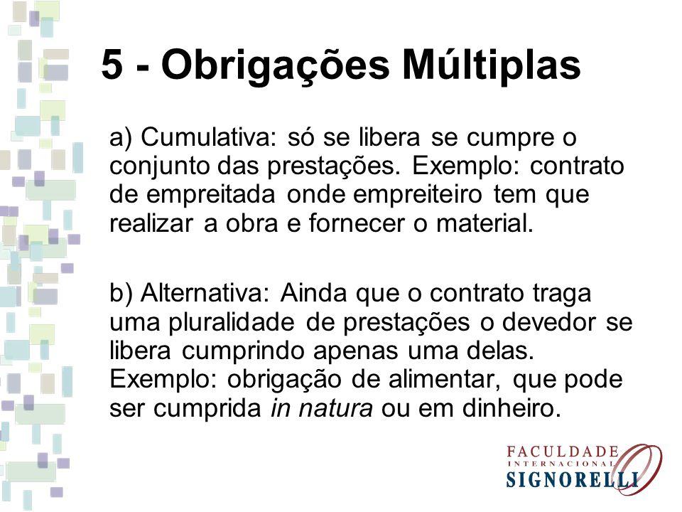 5 - Obrigações Múltiplas