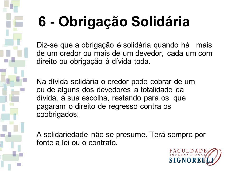 6 - Obrigação Solidária