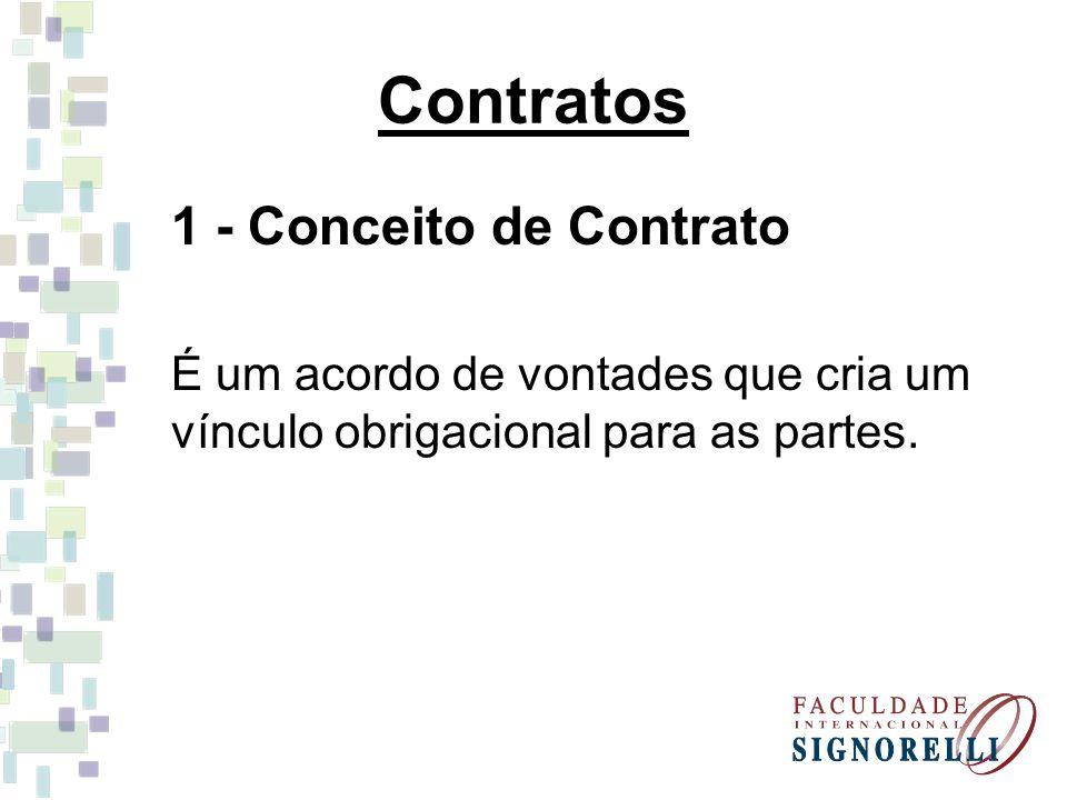 Contratos 1 - Conceito de Contrato