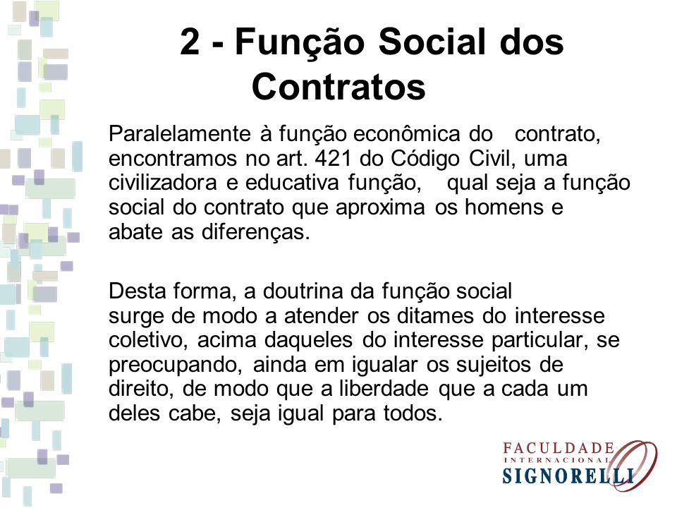 2 - Função Social dos Contratos