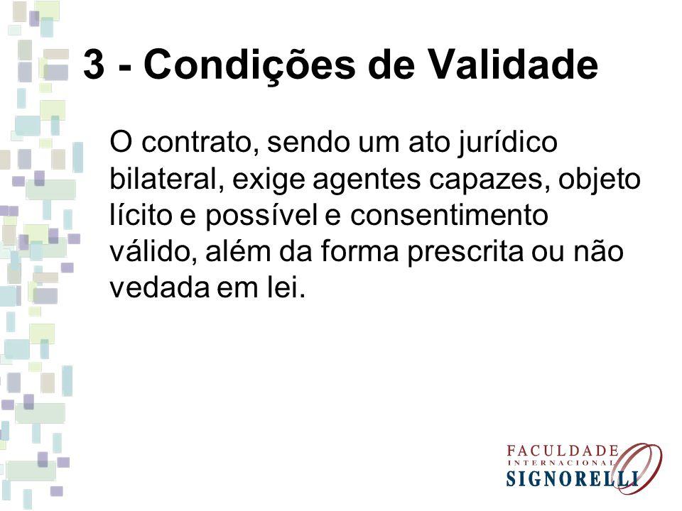 3 - Condições de Validade