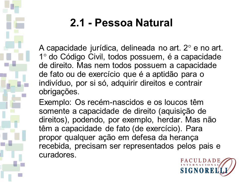 2.1 - Pessoa Natural