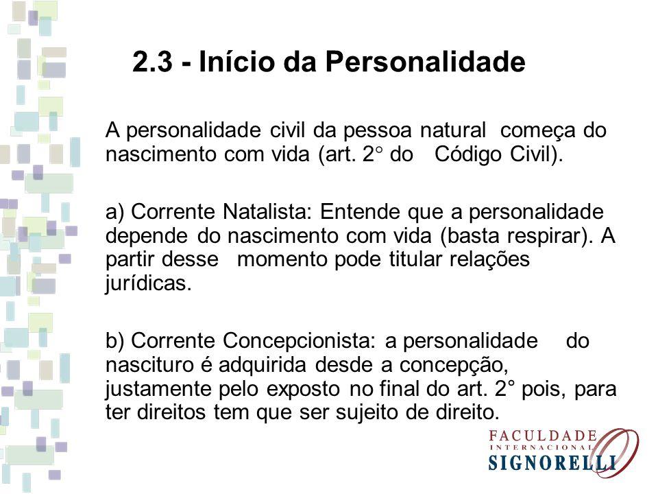2.3 - Início da Personalidade