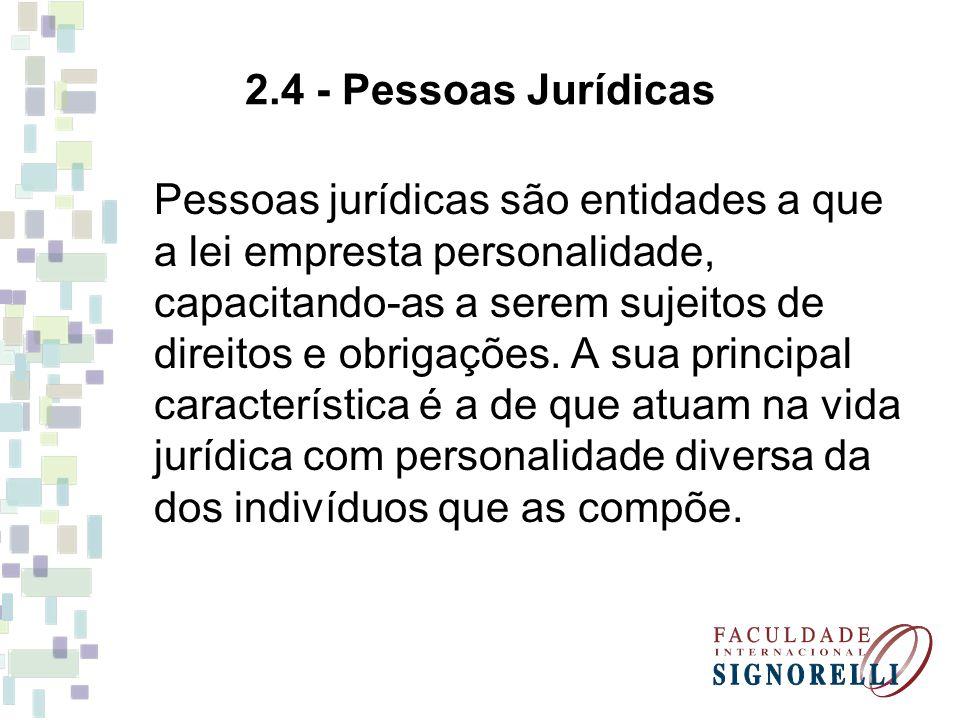 2.4 - Pessoas Jurídicas